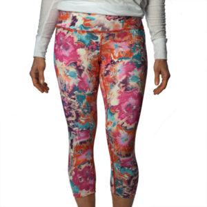 Bloom Crop yoga pants by Liquid Bliss stylish flower pattern pants