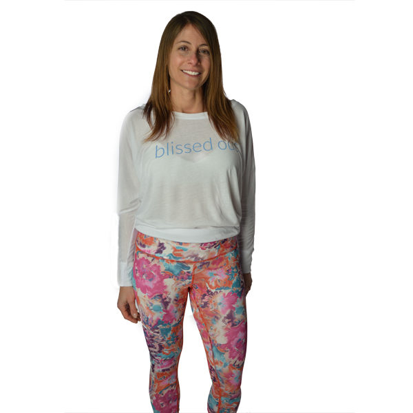 Bloom Crop Bottom Yoga Pants from Liquid Bliss