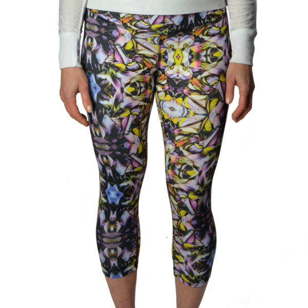 Kaleidoscope Crop Bottom Yoga Pants
