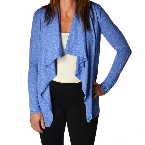 Royal Blue Top open yoga shirt