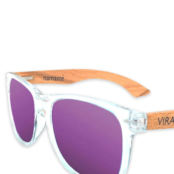 Vira Sun purple mirrored surfer style sunglasses