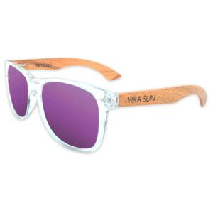Vira Sun purple mirrored surfer style sunglasses