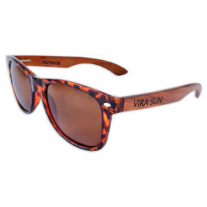 Vira Sun Sunglasses Warrior Style Tortoise Brown Rosewood shades